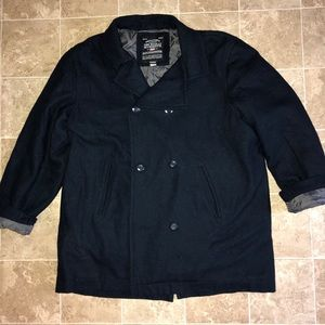 Steve and Barry's navy wool blend pea coat 3X
